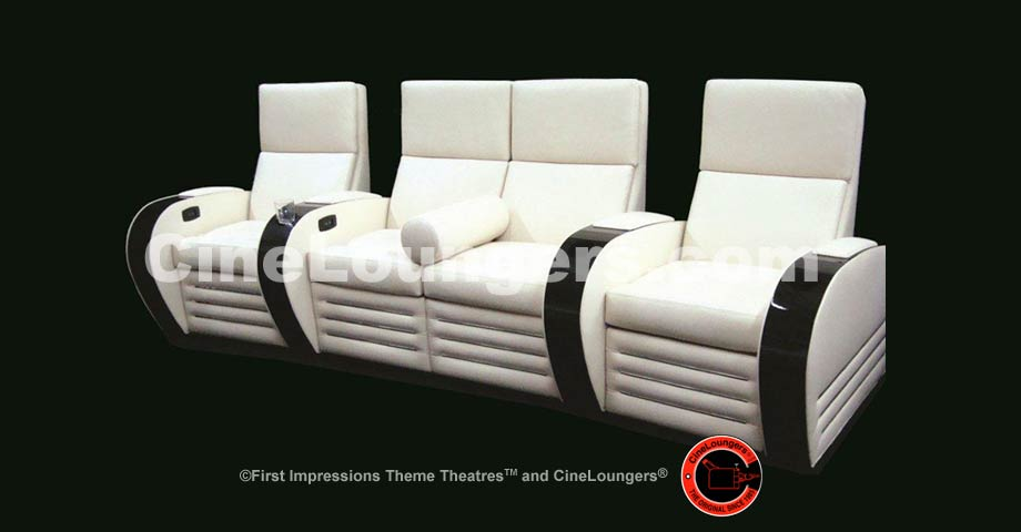 French Art Deco Inspired Theatre Lounger